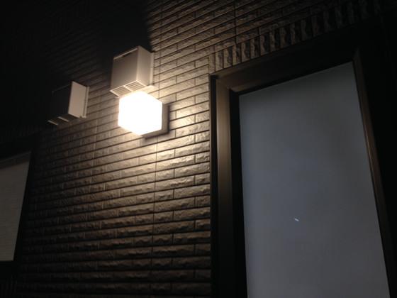 センサー付き照明