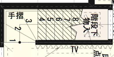 階段のCAD図面