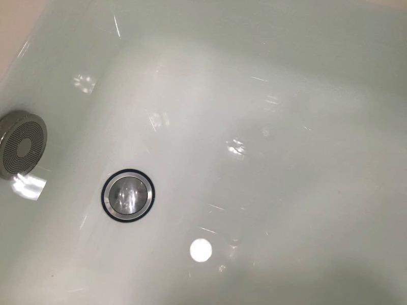 風呂釜洗浄ジャバすすぎ完了